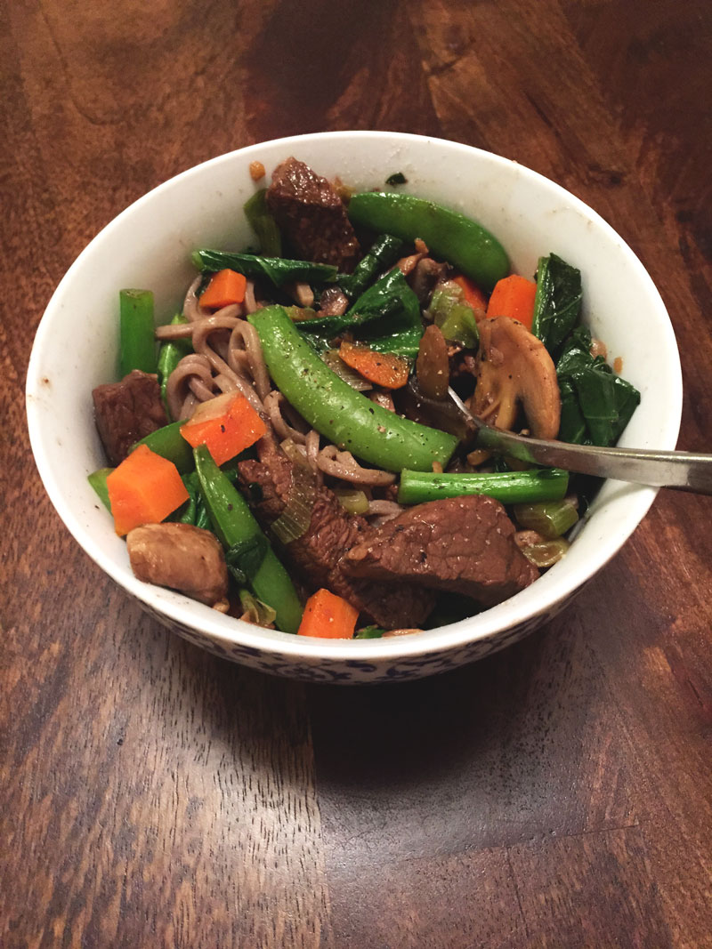 Ginger beef stir-fry - Food Prep Sundays
